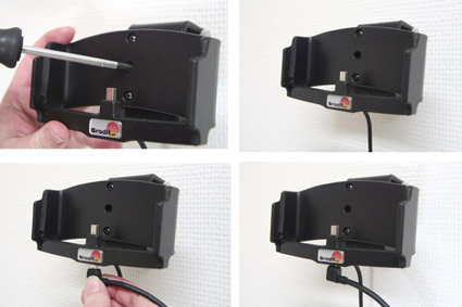 Holder with Pass-Through Connector