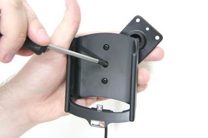 Active holder for fixed installation