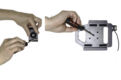 Active holder with USB-cable and cig-plug adapter
