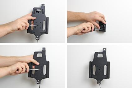 Holder with lock.