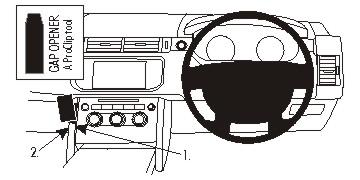 Brodit 654937 ProClip Mount for Low Land Range Rover Sport 14
