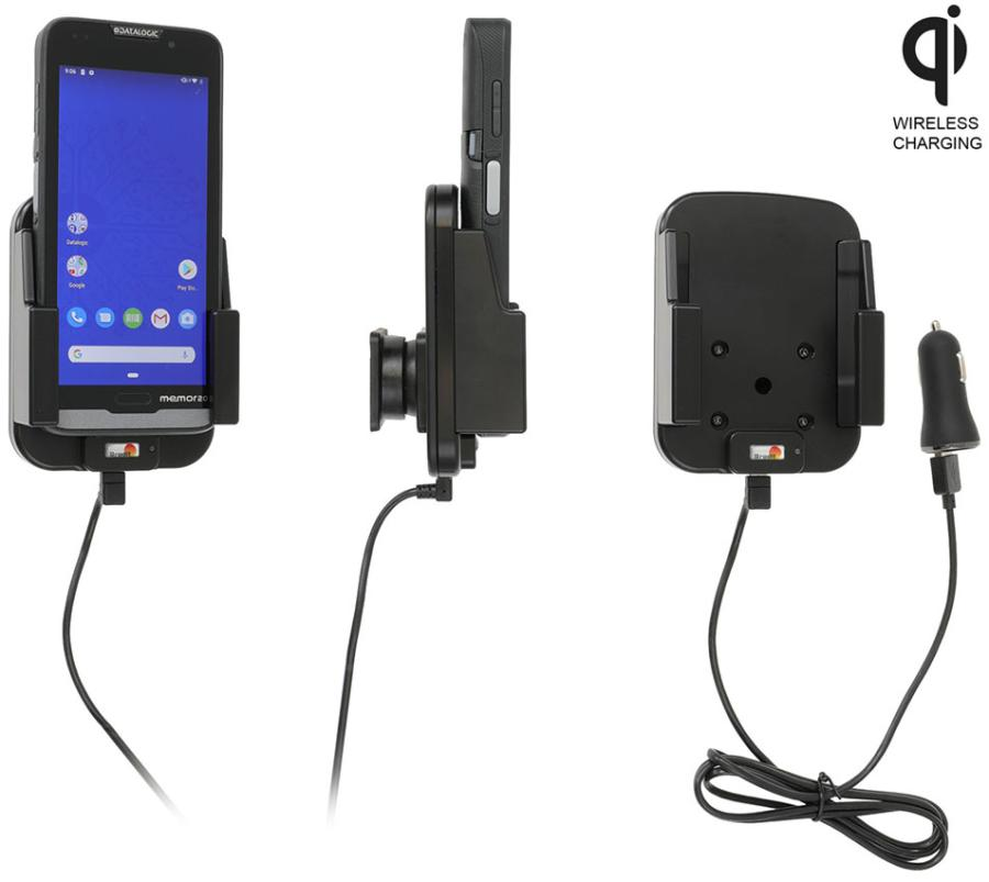 Qi wireless active holder with cig-plug