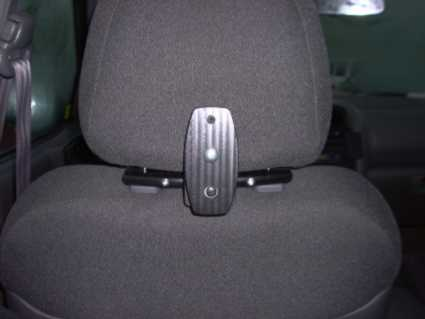 Headrest mount with monitor mount