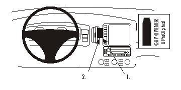 853631 brodit proclip  proclip center mount for honda