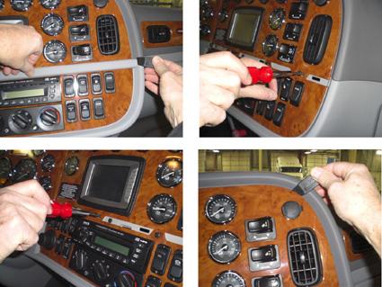 854146 Brodit Proclip: ProClip Angled mount for Peterbilt